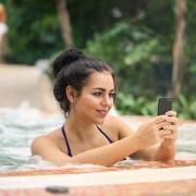 image of woman using automated pool